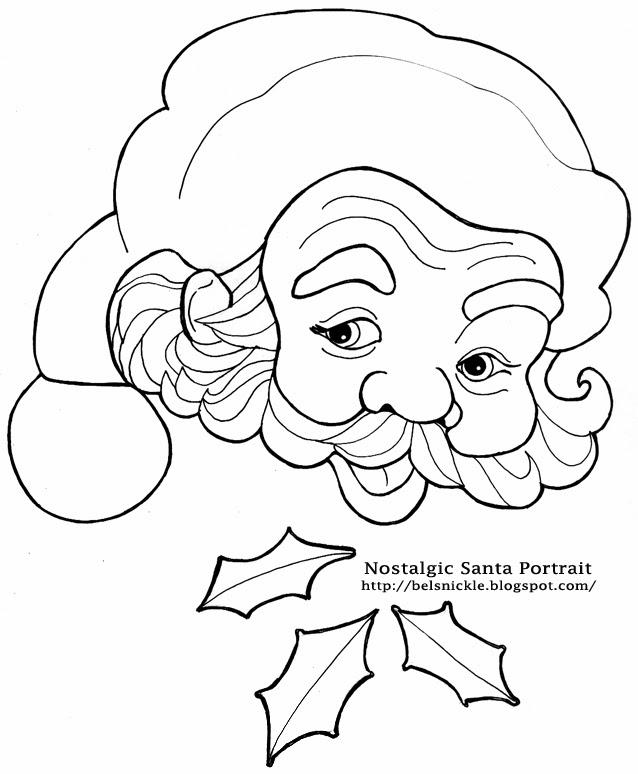 638x774 Color A Nostalgic Portrait Of Santa Claus For A Christmas Calendar