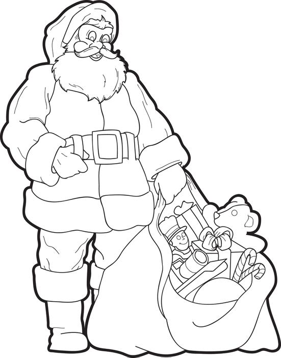 551x700 Free Printable Santa Claus Coloring Page For Kids