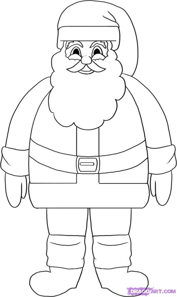 612x1024 How Do You Draw Santa Claus