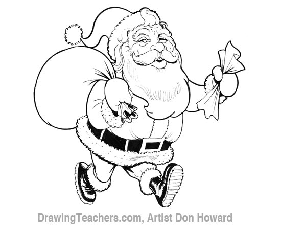 550x442 cartoon santa claus