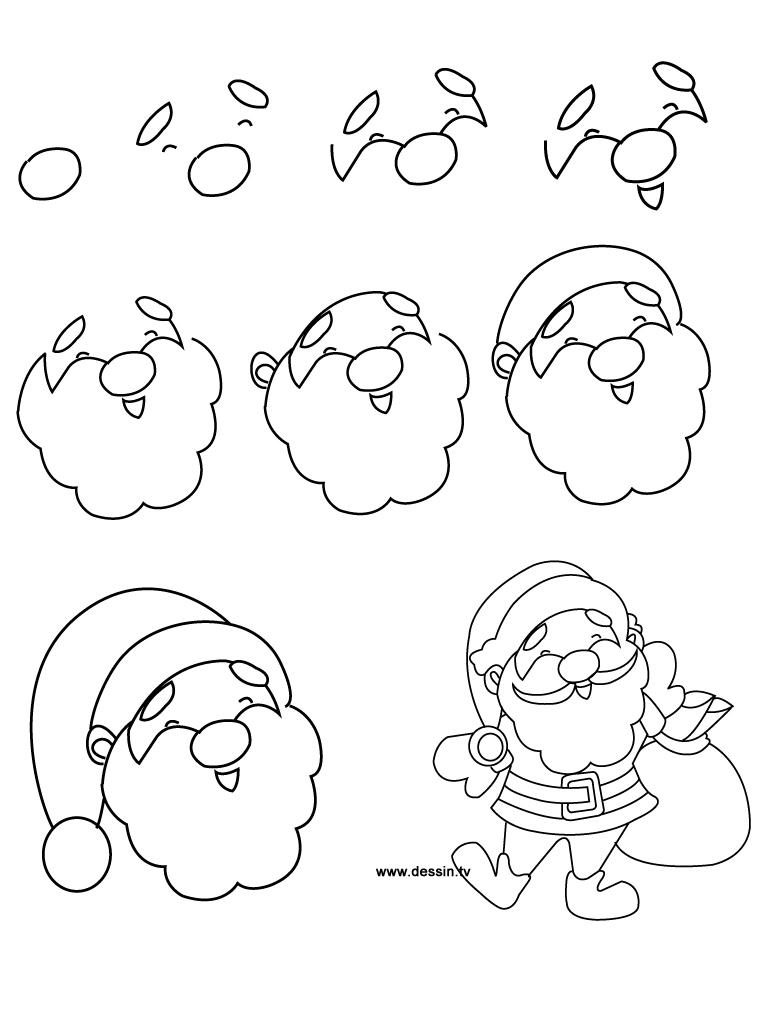 768x1024 Simple Drawing Of Santa Drawing Santa Claus
