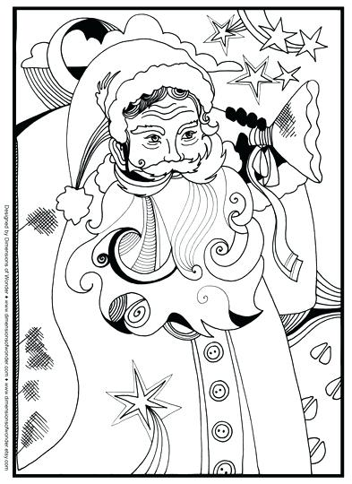 393x540 Christmas Coloring Pages Santa Coloring Pages Free Christmas
