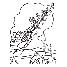Santa Claus Sleigh Drawing