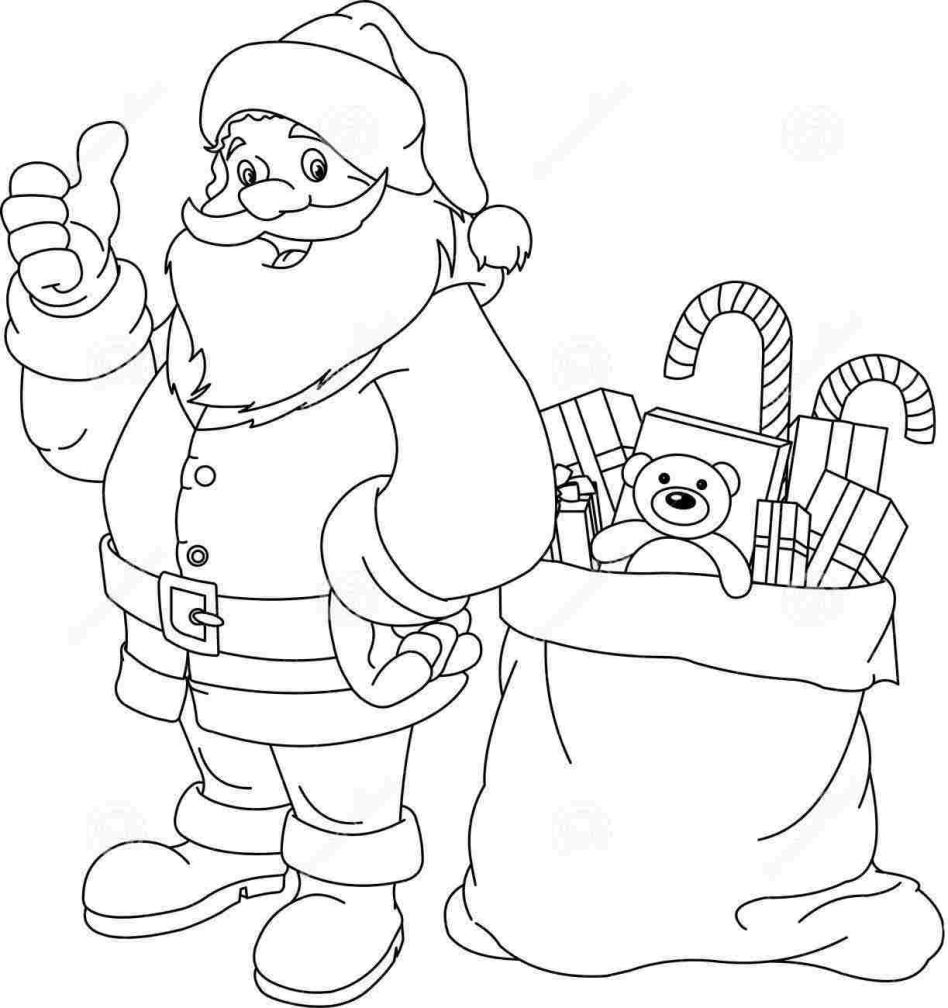 948x1008 Outline Of Santas Face Stock Photo Hittoon Outlined Classic Santa