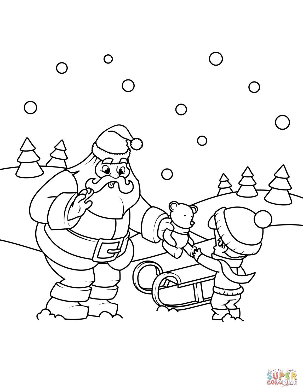 Santa Claus Sleigh Drawing at GetDrawings.com | Free for personal ...
