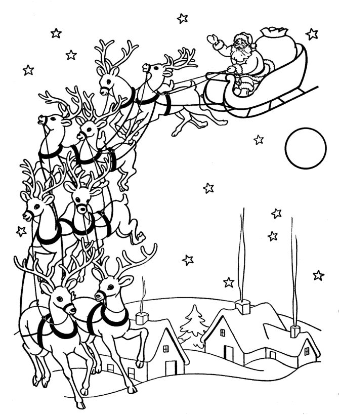 Santa Claus Sleigh Drawing at GetDrawings.com | Free for personal ...