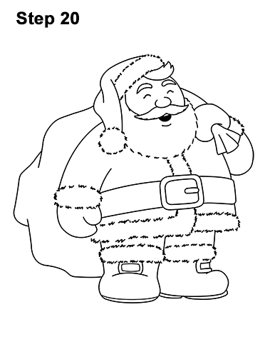386x500 How To Draw Santa Claus