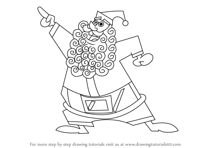 800x566 Learn How To Draw Santa Claus From The Fairly Oddparents (The