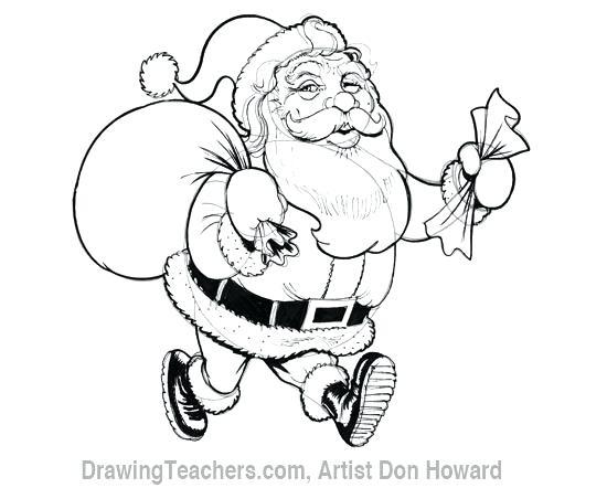 550x442 Santa Claus Drawing Cartoon 6 Drawing 7 Santa Claus Drawing