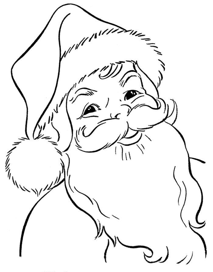 700x893 Drawing Of Santa Claus