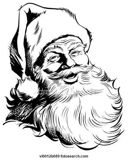 416x520 Drawn Santa Sketch