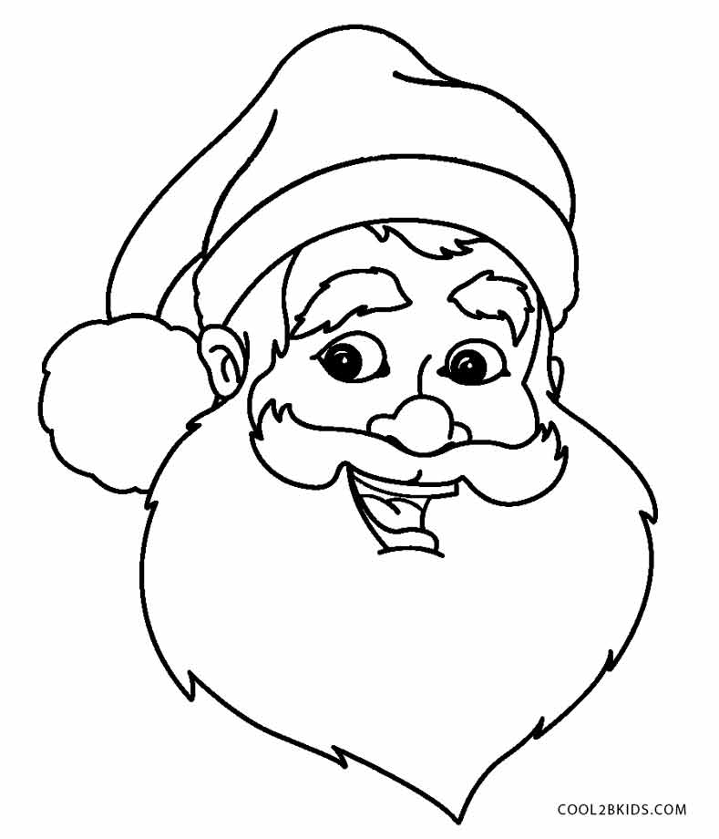 789x920 free printable santa coloring pages for kids cool2bkids