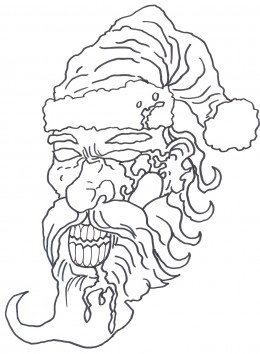 260x354 How Draw A Zombie Santa Face ~ Drawing And Paint