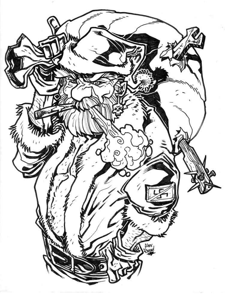 750x982 Bad Santa By Illustrated1