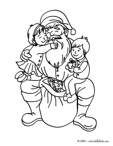 364x470 Santa Claus Coloring Pages