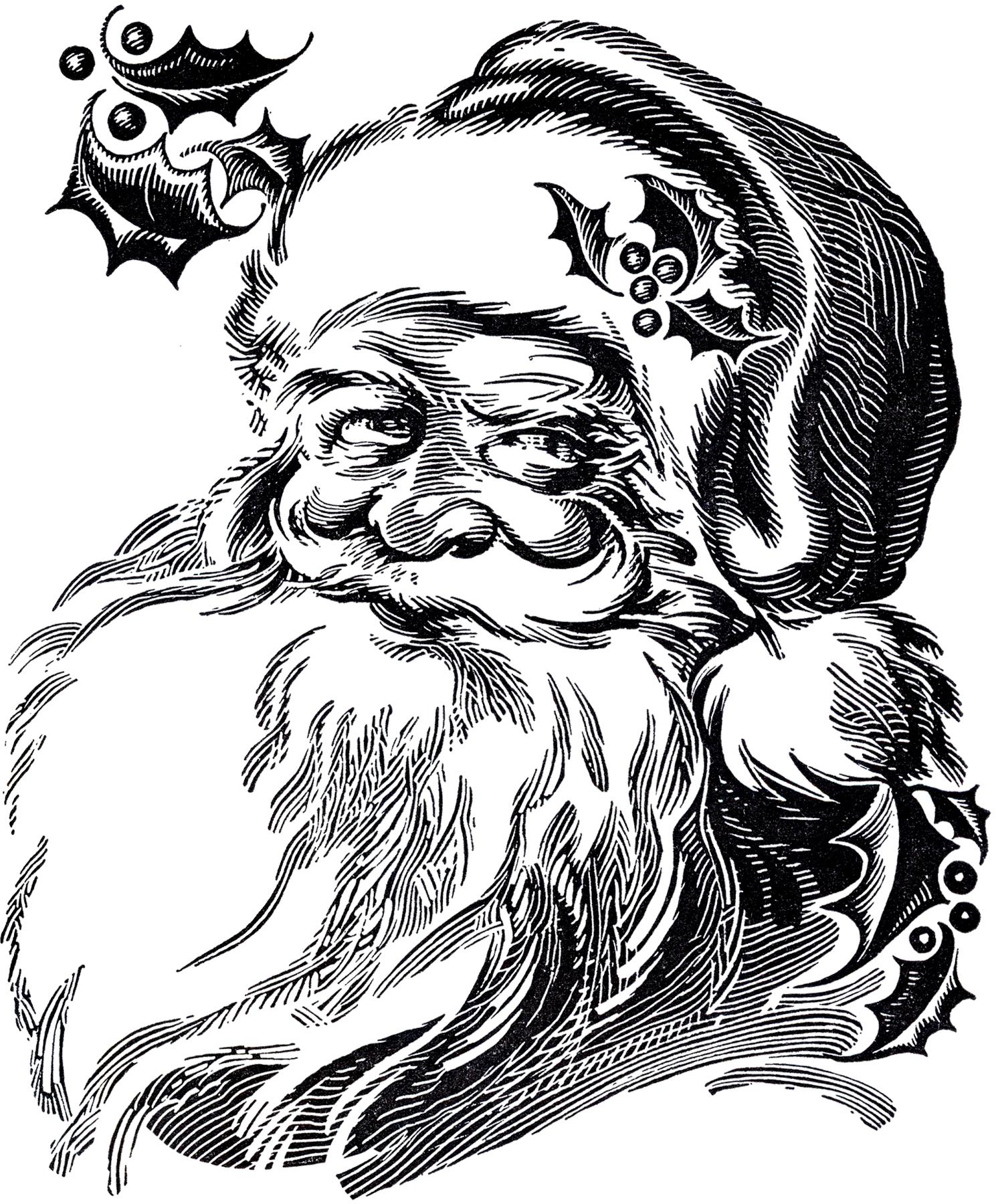 1489x1800 Beautiful Santa Drawing!