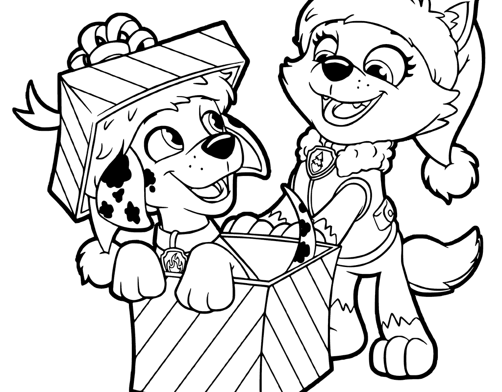 1024x800 Terrific Christmas Presents Coloring Pages With Bow Free Page