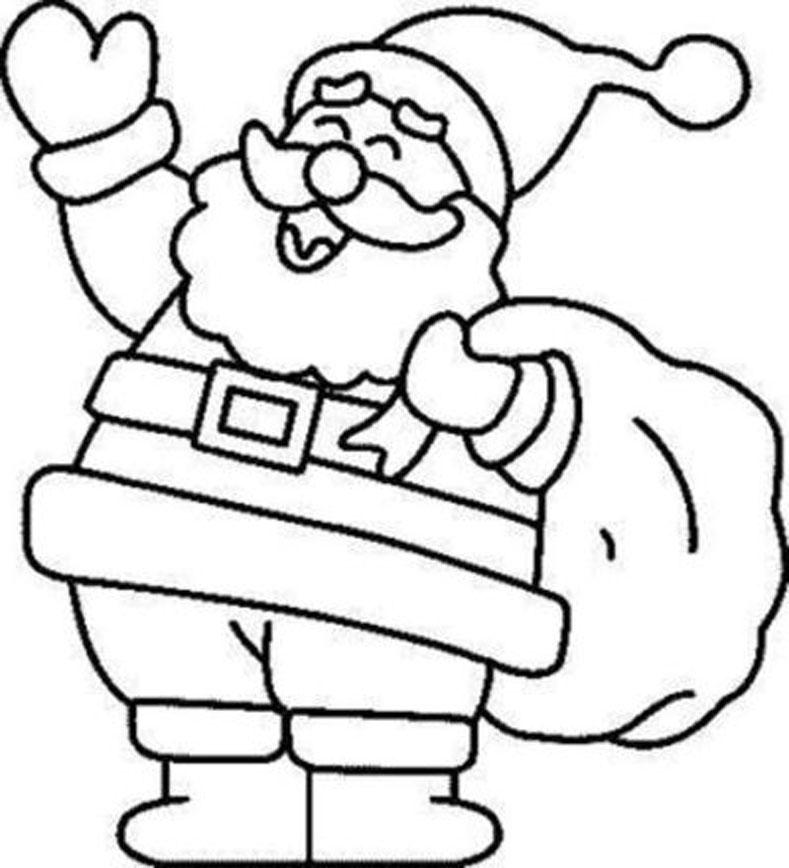 Santa Drawing Easy at GetDrawings.com | Free for personal use Santa ...