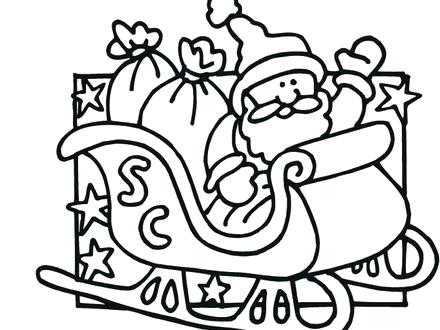 440x330 Santa And His Reindeer Coloring Pages Draw Sheets For Sheets Santa