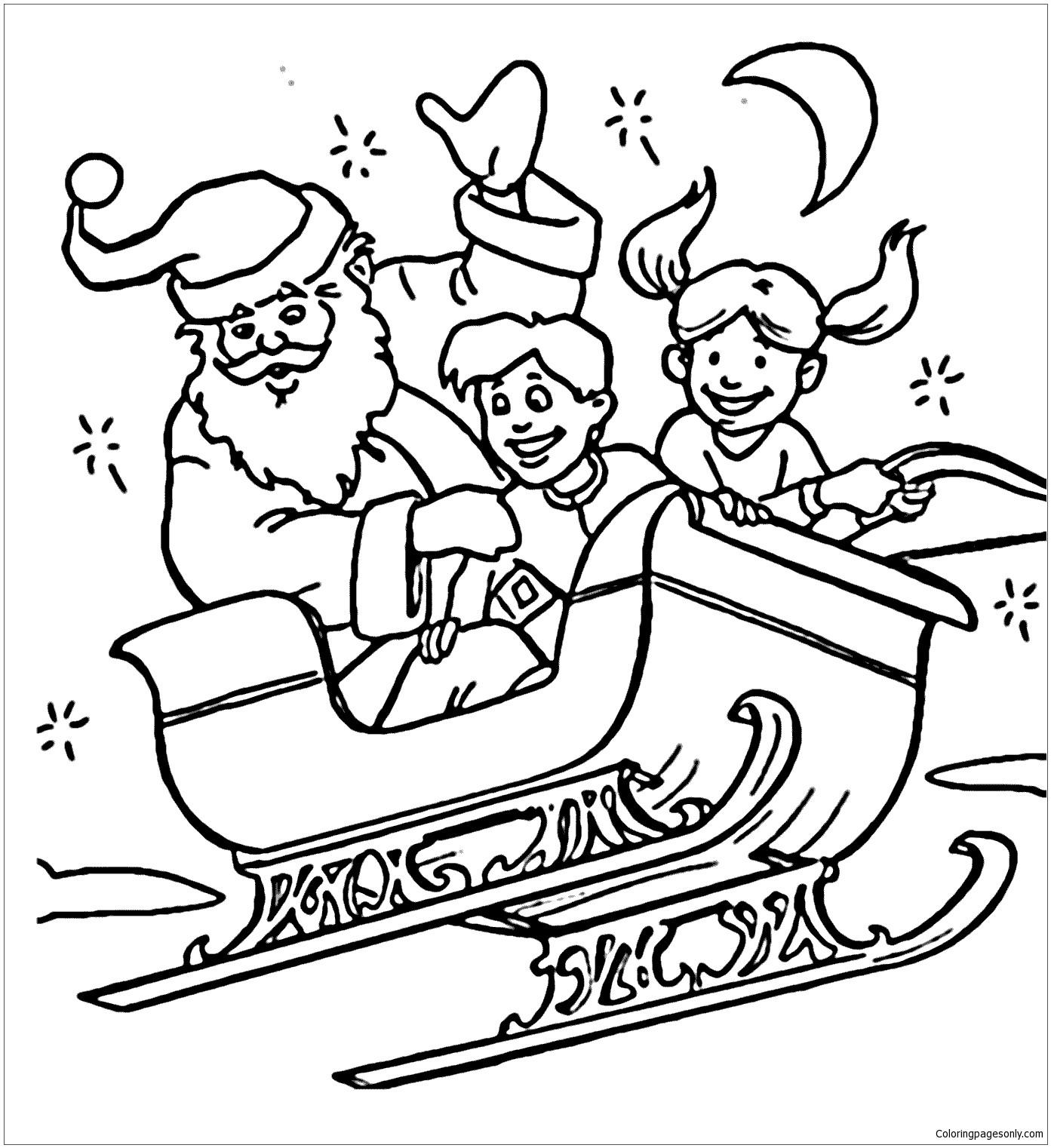 Santa Drawing For Kids at GetDrawings | Free download