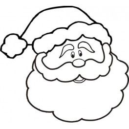 264x264 23 Images Of Santa Face Template Free