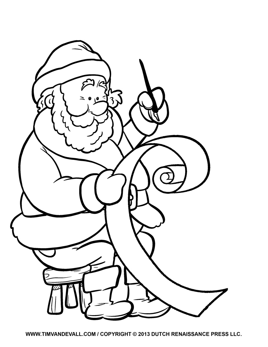 927x1200 Free Santa Clip Art, Pictures, Coloring Pages Amp Letter Template