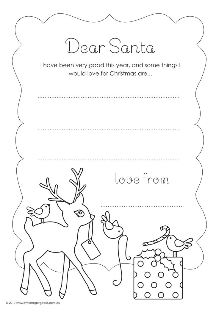 736x1041 27 Best Letter To Amp From Santa Images On Christmas