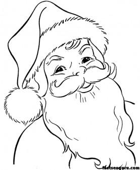277x338 Santa Claus Face Printable Santa Claus Coloring Pages Let'S