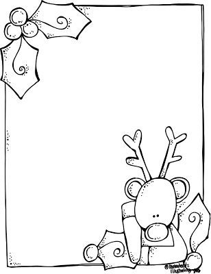 308x400 letter to santa template black and white