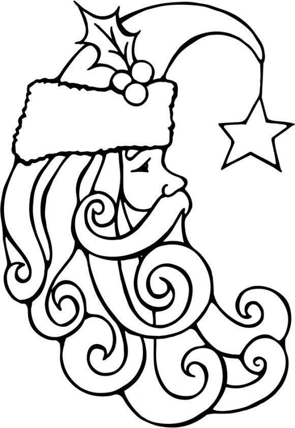 580x841 Best Santa Face Ideas On How To Draw Santa, Santa