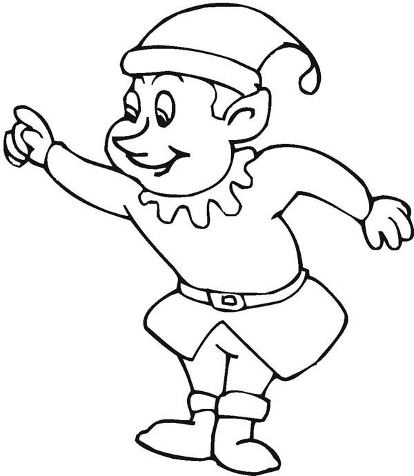 Santa Elf Drawing at GetDrawings.com | Free for personal use Santa ...