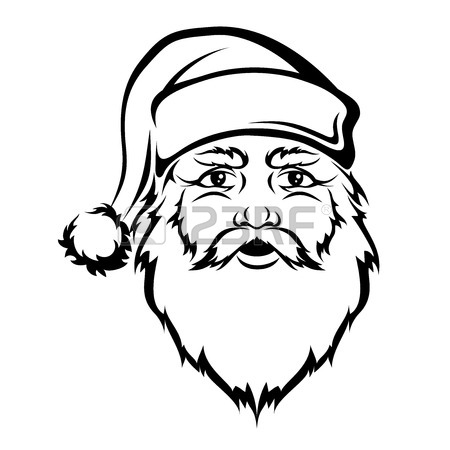 Santa Face Drawing