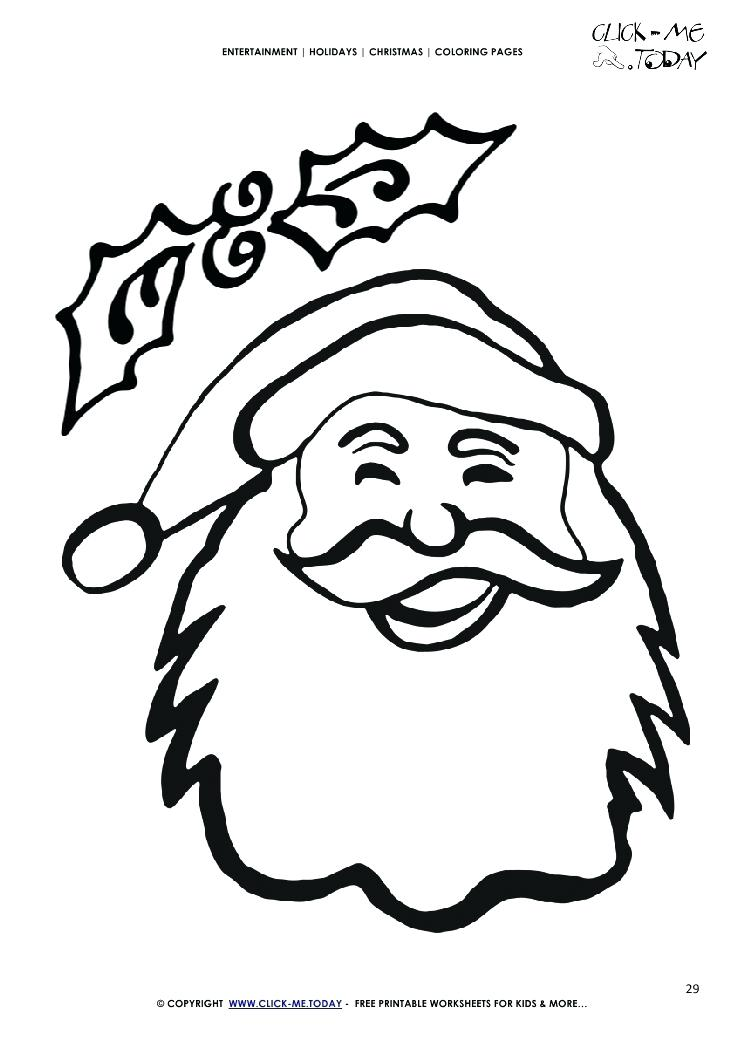Santa Face Drawing at GetDrawingscom Free for personal use Santa