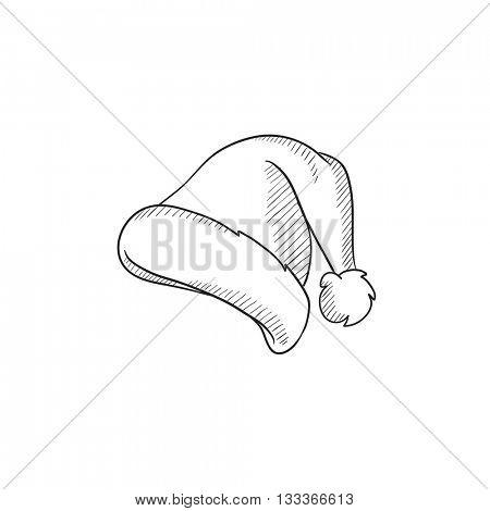 450x470 Santa Hat Vector Sketch Icon Vector Amp Photo Bigstock