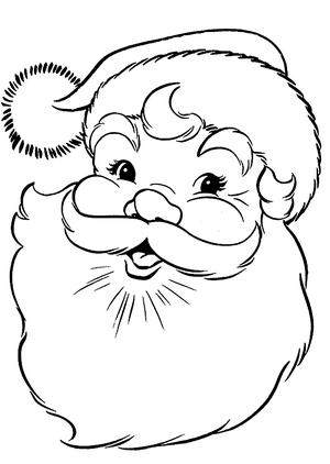 Santa Line Drawing