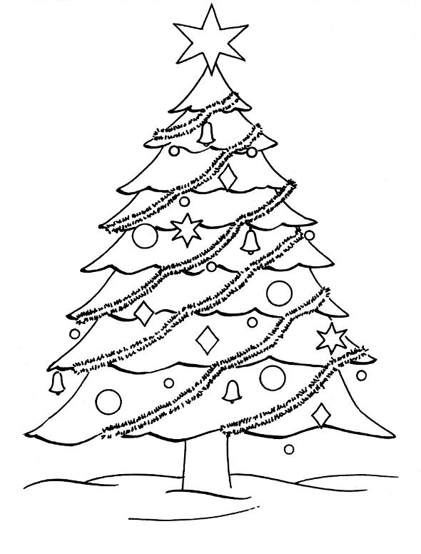 590x776 Christmas Tree Drawing Sheet Adult Christmas Drawings