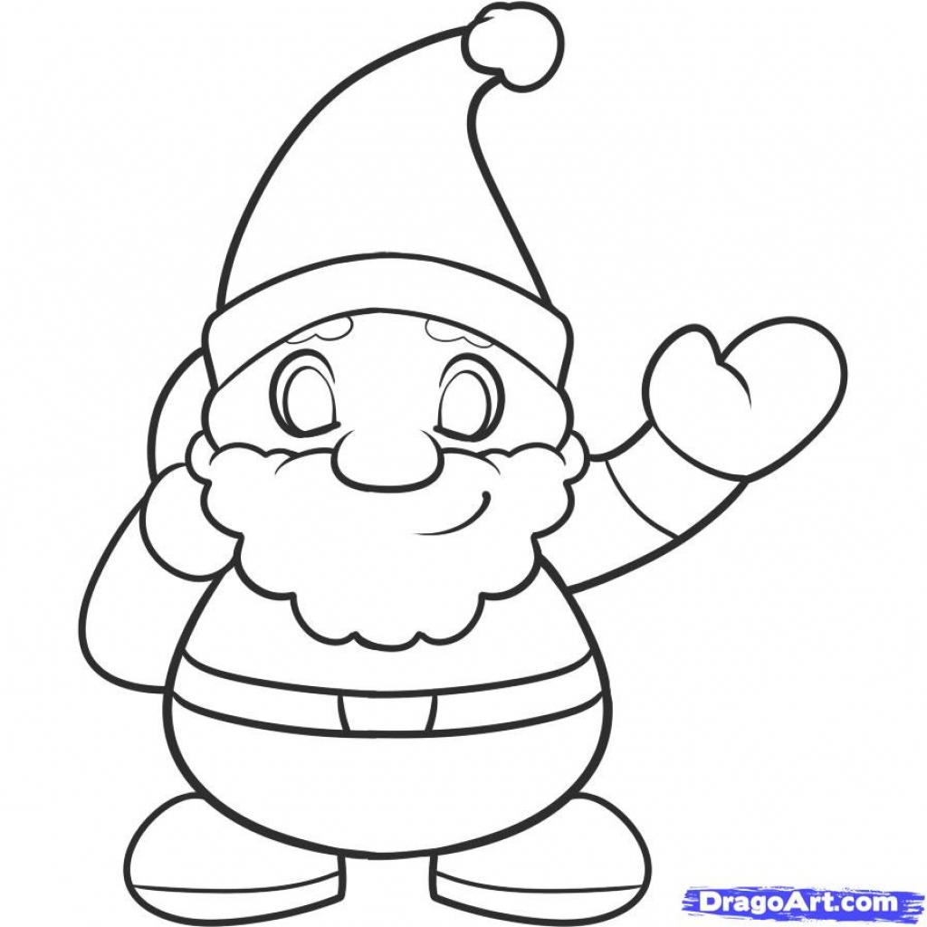 1024x1024 Draw Kids Draw How To Draw Santa Kids Step Step People