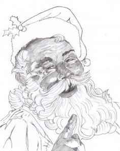 236x296 Drawn Santa Pencil Many Interesting Cliparts
