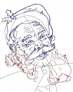 239x302 Drawn Santa Santa Claus