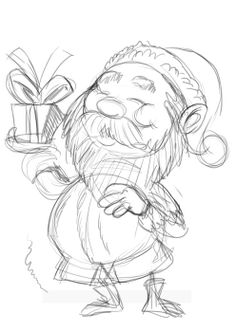 236x332 Holidaysanta Drawings Santa's Elves