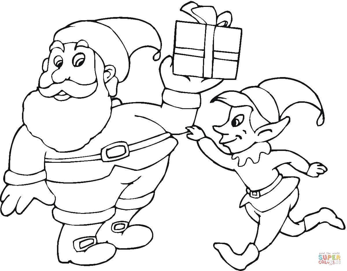 1200x939 How To Draw Santa Claus Elf