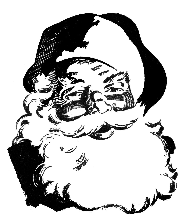1250x1500 Retro Christmas Clip Art Wonderful Santa The Graphics Fairy