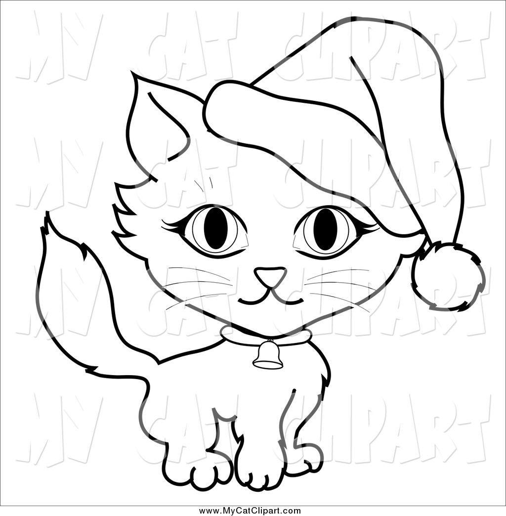 1024x1044 Santa Cat Coloring Christmas Tree Coloring