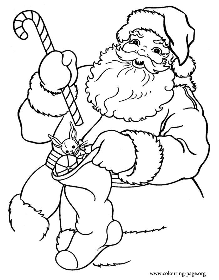 700x896 Santa Claus Face With No Beard Coloring Page