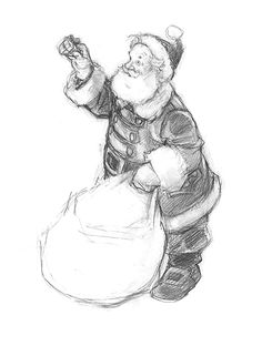 236x312 Sketch Of Santa. It's Never Too Early For Xmas
