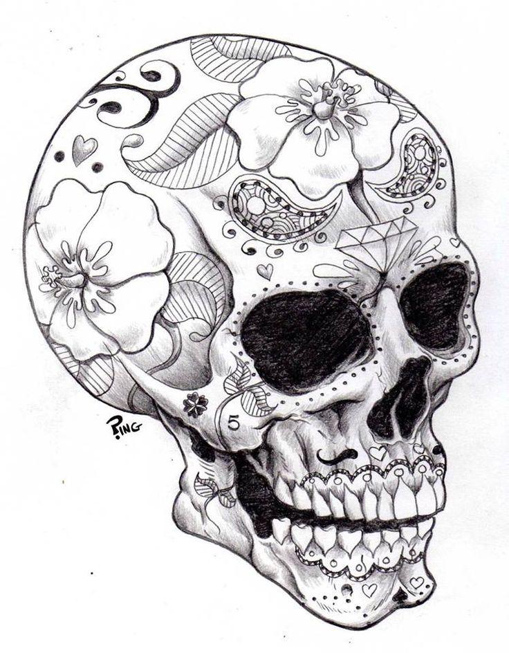 736x944 Dia De Los Muertos Skull