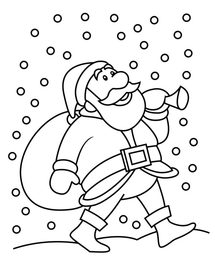 839x1024 Christmas Drawings For Kids