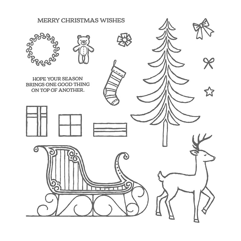 800x800 Santa's Sleigh Photopolymer Stamp Set By Stampin' Up!