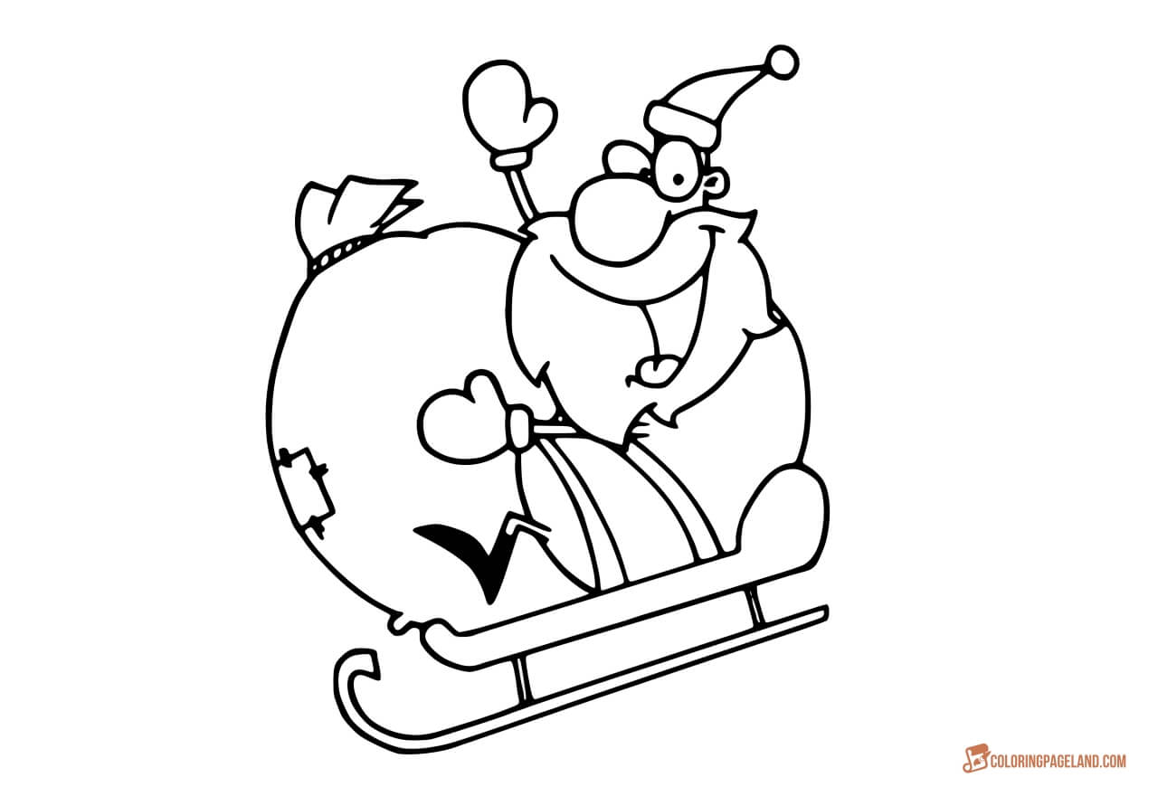 Santa Sleigh Drawing at GetDrawings.com | Free for personal use ...
