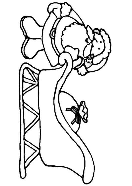 531x750 Santa Claus With Sleigh Coloring Pages